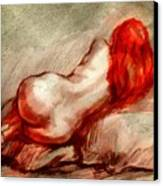 Red Canvas Print by Gun Legler