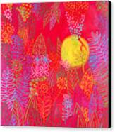 Red Jungle Passionate Sun Canvas Print
