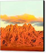 Red Mountain Sunset Organs Canvas Print by Jack Pumphrey