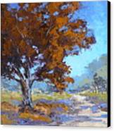 Red Oak Canvas Print by Yvonne Ankerman