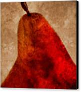 Red Pear II Canvas Print by Carol Leigh