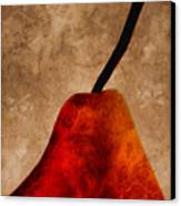 Red Pear IIi Canvas Print by Carol Leigh