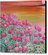 Red Pearls Canvas Print