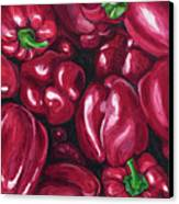 Red Peppers Canvas Print by Patty Vicknair