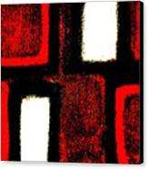 Red Plaid Canvas Print by Marsha Heiken