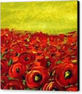 Red Poppies Field  Canvas Print