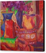 Red Purse On Green Book Canvas Print