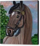 Red Roan Horse Canvas Print by Anna Folkartanna Maciejewska-Dyba