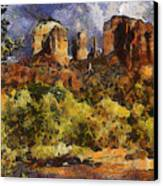 Red Rock Crossing Canvas Print by Elaine Frink
