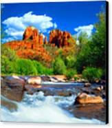 Red Rock Crossing Canvas Print by Frank Houck