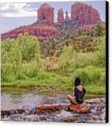 Red Rock Crossing -  Sedona Arizona Usa Canvas Print by Tony Crehan