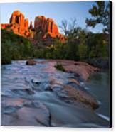 Red Rock Sunset Canvas Print by Mike  Dawson