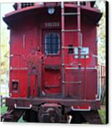 Red Sante Fe Caboose Train . 7d10476 Canvas Print by Wingsdomain Art and Photography