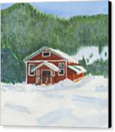 Red School House Canvas Print