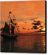 Red Sky At Night Canvas Print by Timothy McPherson