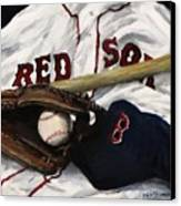 Red Sox Number Nine Canvas Print by Jack Skinner