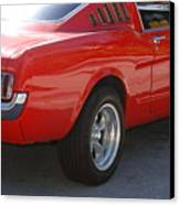 Red Stang Canvas Print
