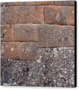 Red Stone Bricks Canvas Print