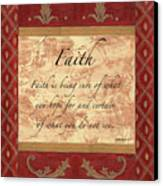 Red Traditional Faith Canvas Print