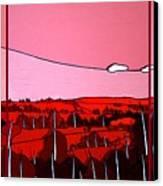 Red Tuscan Longview Canvas Print