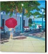 Red Umbrella In San Juan Canvas Print