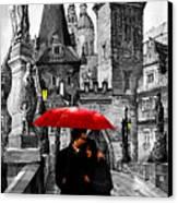 Red Umbrella Canvas Print by Yuriy  Shevchuk