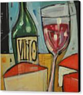 Red Wine And Cheese Canvas Print