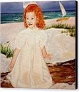 Redhead On Beach Canvas Print