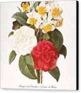 Redoute: Bouquet, 1833 Canvas Print by Granger