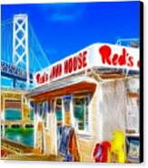 Red's Java House Electrified Canvas Print