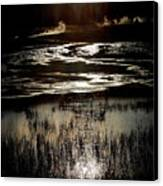 Reflected Sunset Canvas Print by Carrie Putz