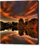 Reflecting Autumn Canvas Print by Kim Shatwell-Irishphotographer