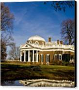 Reflection Of Monticello Canvas Print