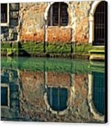 Reflection On Canal In Venice Canvas Print