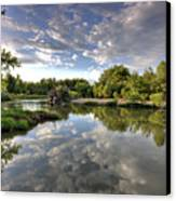 Reflection On The Poudre River Canvas Print