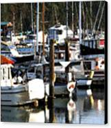 Reflections At Dock II Canvas Print
