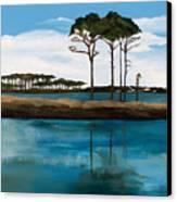 Reflections At Western Lake Canvas Print