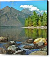Reflections Glacier National Park  Canvas Print
