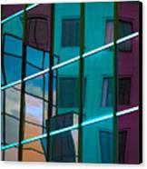 Reflections In Colour Canvas Print by Elisabeth Van Eyken