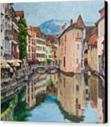 Reflections Of Annecy Canvas Print