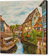 Reflections Of Colmar Canvas Print by Charlotte Blanchard