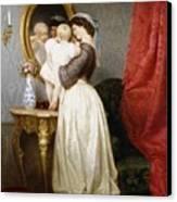 Reflections Of Maternal Love Canvas Print by Robert Julius Beyschlag