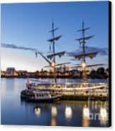 Reflections Of Tall Ships Canvas Print by Andrew Lalchan
