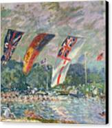 Regatta At Molesey Canvas Print by Alfred Sisley