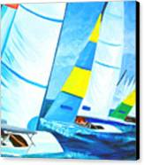 Regatta Canvas Print