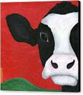 Regina The Happy Cow Canvas Print by Kristi L Randall