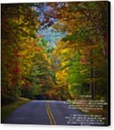 Relief Road  Blue Ridge Parkway Canvas Print by John Haldane