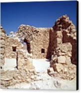 Remains Of The Massada Synagogue Canvas Print