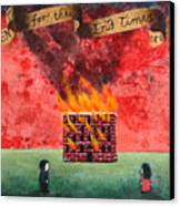 Repent For The End Times Are Near Canvas Print