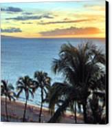 Resort Sunset Canvas Print